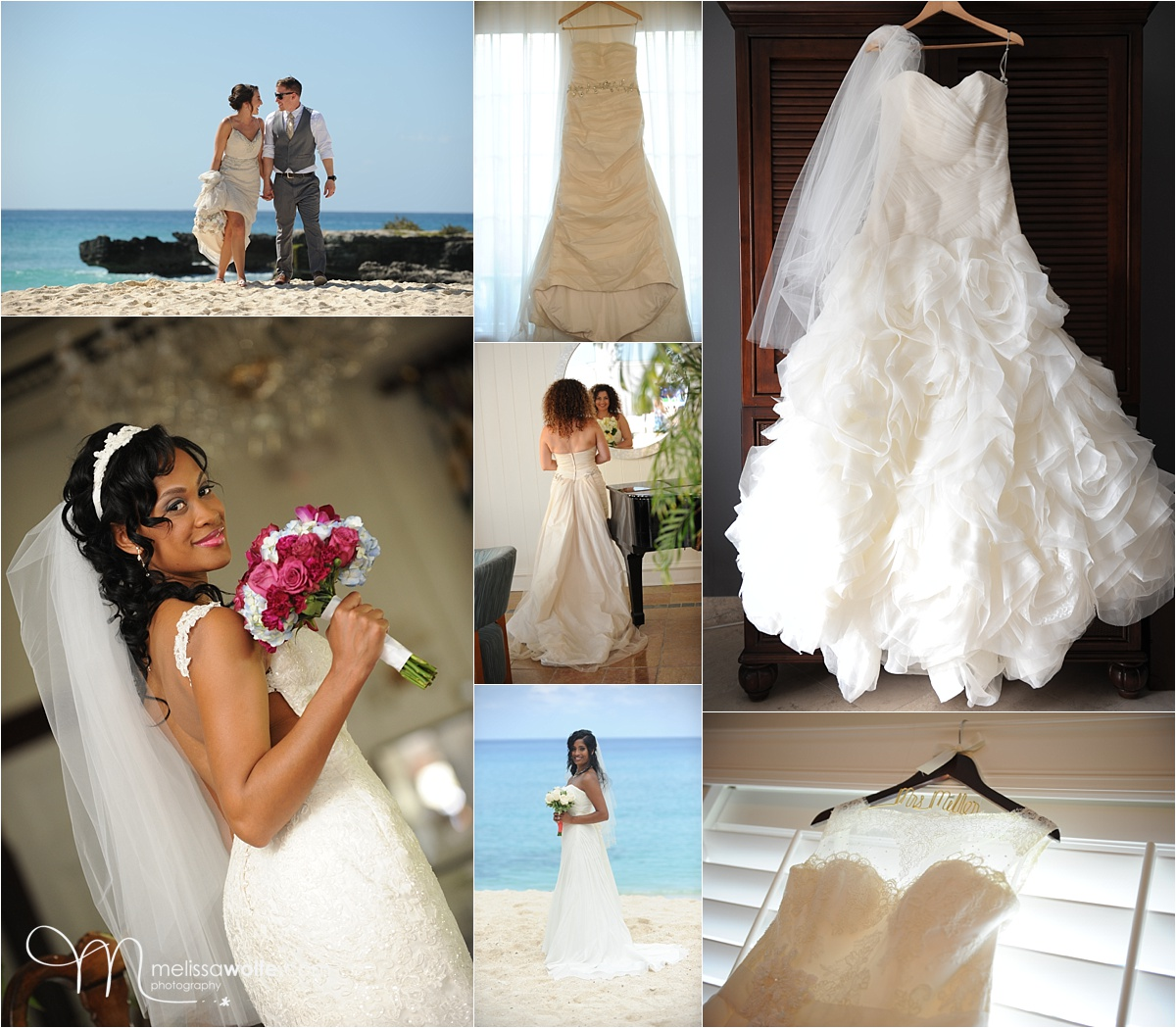 Caribbean Wedding Dresses - Inspiration Board - Melissa ...