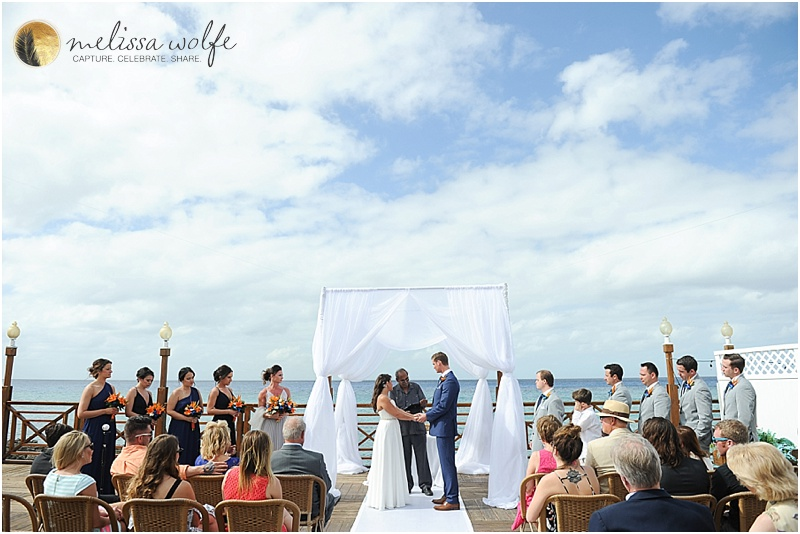 wedding ceremony at Grand Old House, Grand Cayman