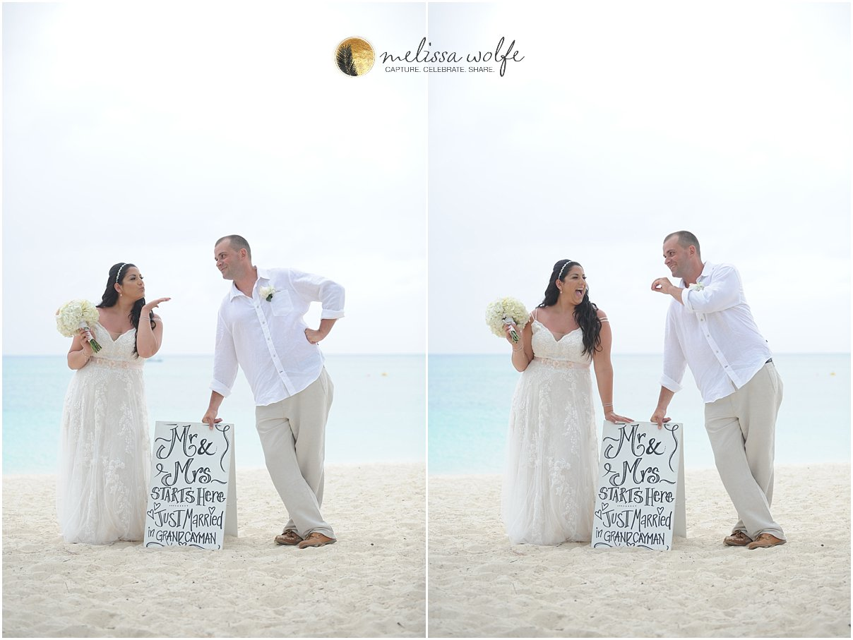 Cayman custom wedding signs